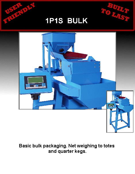 Basic bulk packaging. Net weighing to totes 