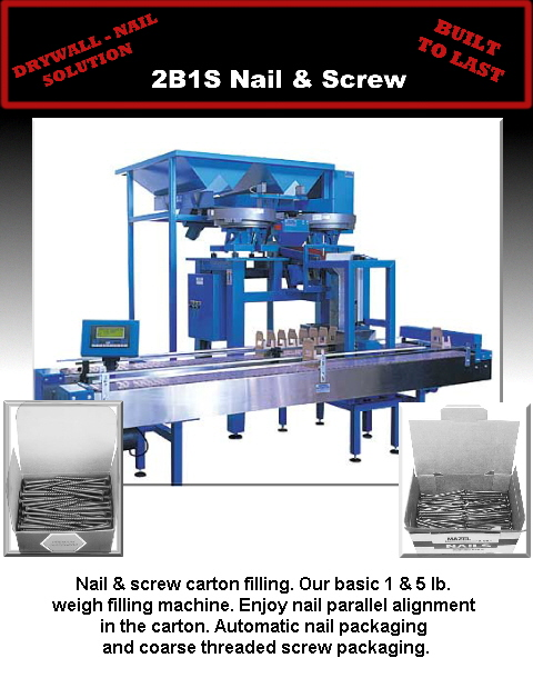 Nail & screw carton filling. Our basic 1 & 5 lb. 