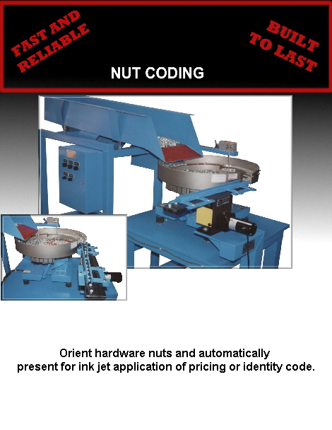 Orient hardware nuts and automatically 